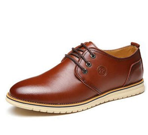 Handmade Flats Men Leather Shoes