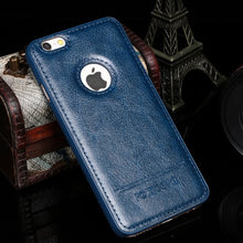Load image into Gallery viewer, Vintage Hard PC + Leather Back Cover For iPhone