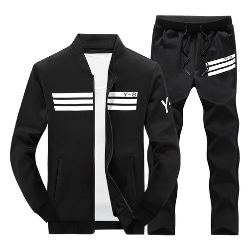 Stand Collar Sports Tracksuit Outfit