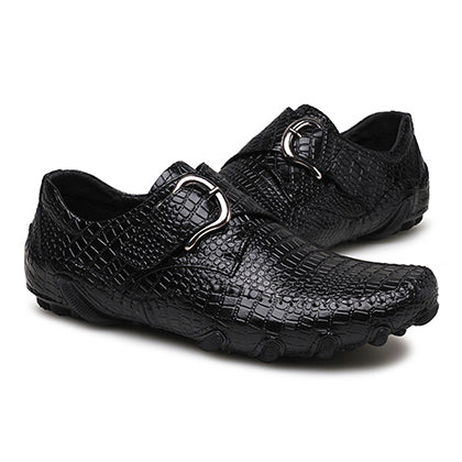 Business Crocodile Skin Pattern Men's Casual Shoes