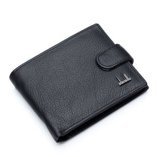 Load image into Gallery viewer, High Quality Genuine Leather  Men Wallets With Coin Pocket
