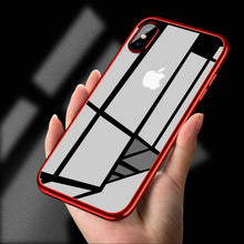 Load image into Gallery viewer, Ultra Thin Transparent Plating Shining Silicon Soft TPU Case For iPhone X