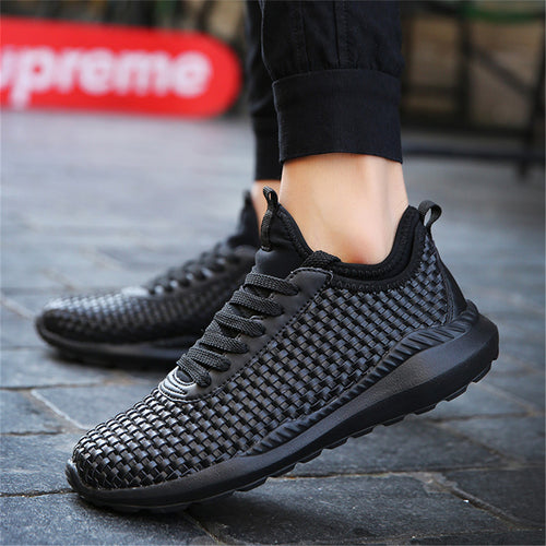 New Breathable Woven Men Casual Shoes