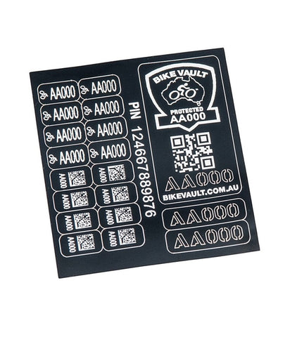 BIKE ID LABEL SET