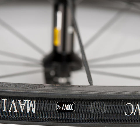 MINI ID LABEL INSIDE WHEEL RIM
