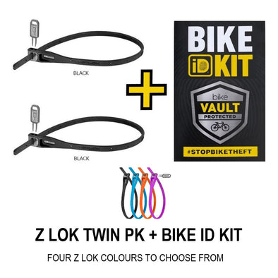 HIPLOK Z LOK (TWIN PAK) + BIKE ID KIT