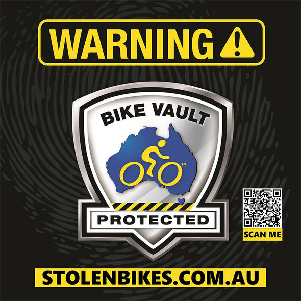 BIKE VAULT - WARNING SIGN