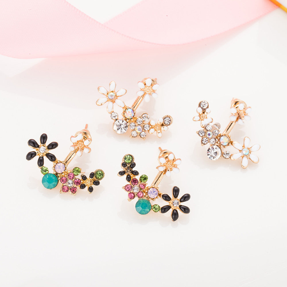 Small Crystal Daisy Earrings