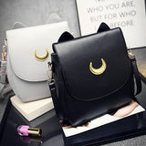 Adorable Cat Ears leather backpack