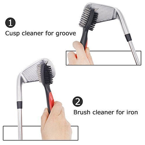 retractable golf club brush