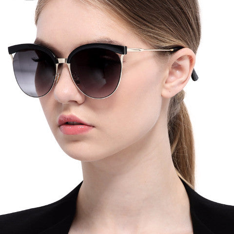Cat Eye Browline Sunglasses