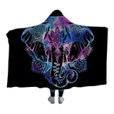 Bohemian Elephant Hooded Blanket- www.madtrendy.com
