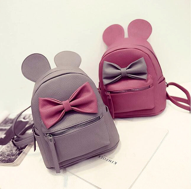 Mickey Ears Leather Backpack
