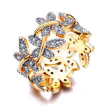 Zirconia Paved Dragonflies Ring