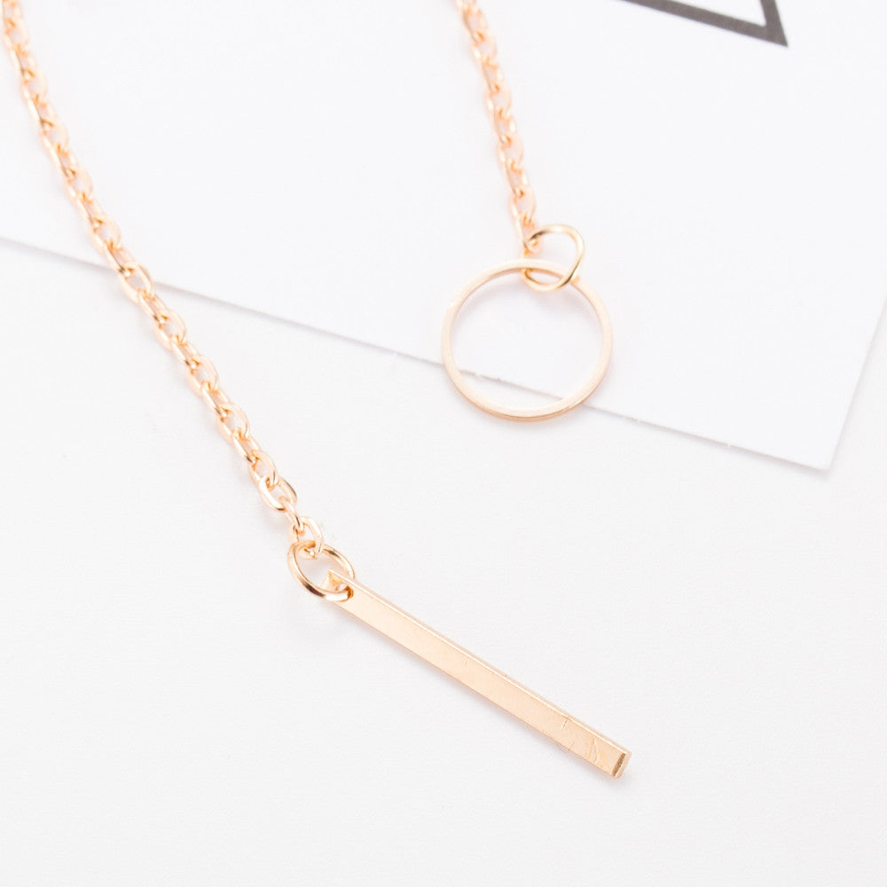 Bar and circle pendant lasso necklace madtrendy bar and circle pendant lasso necklace aloadofball Choice Image