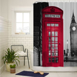 London Big Ben and Red Telephone Box Shower Curtain