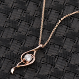 Musical Note With Cystal Pendant Necklace