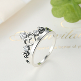 925 Sterling Silver Crown Ring - madtrendy.com