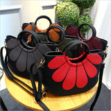 Flower Leather Crossbody Bag - madtrendy.com