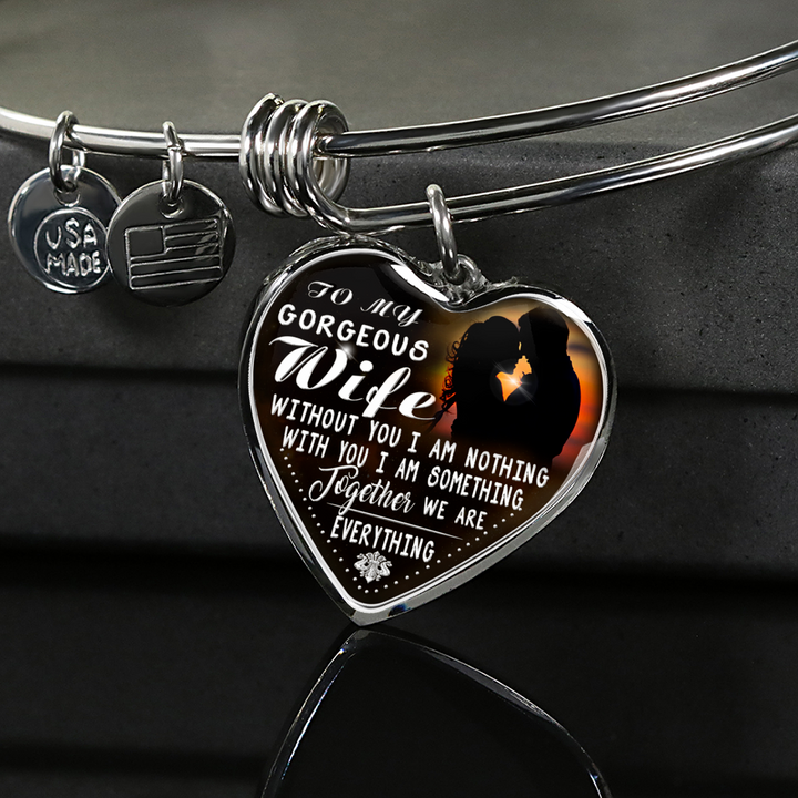 My Gorgeous Wife Engraved Necklace or Bangle (Silver)