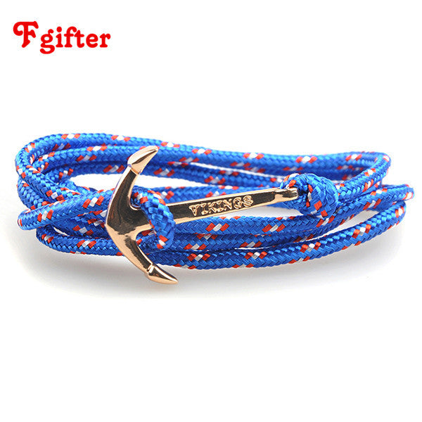 Personalised Anchor Wrap Bracelet - madtrendy.com