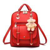 Teddy Leather Backpack - madtrendy.com