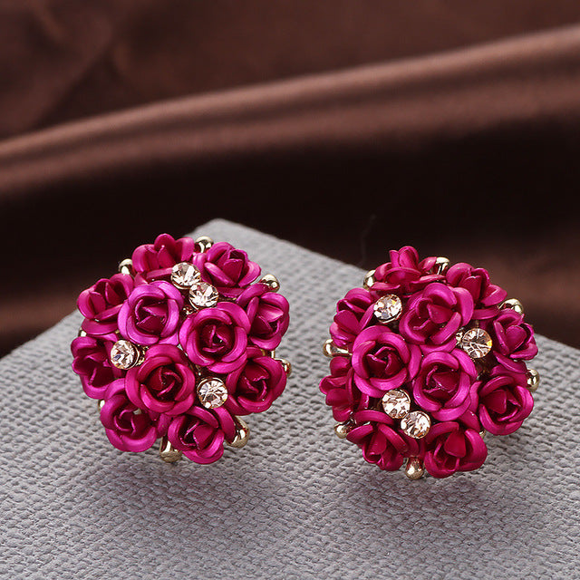 Rose Bouquet Earrings