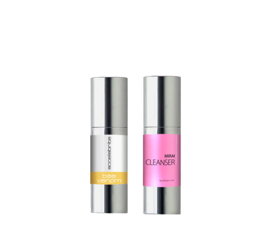 True Company Bee Venom Serum & Mirai Anti Aging Facelift Cleanser