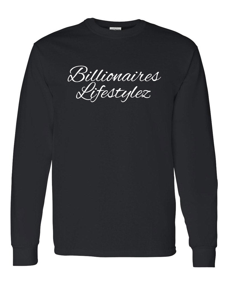 BILLIONAIRES LIFESTYLEZ LONG SLEEVE T-SHIRTS (BLACK AND WHITE)