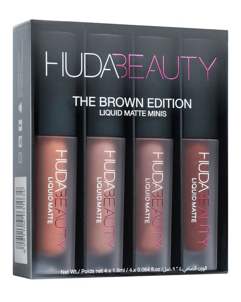 Huda Beauty The Brown Edition 4 Liquid Matte Minis