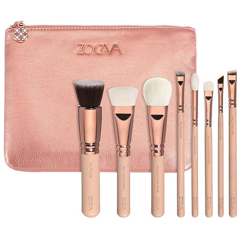 Zoeva Rose Golden Luxury Set Vol. 2 Makeup Brushes - 8 pieces