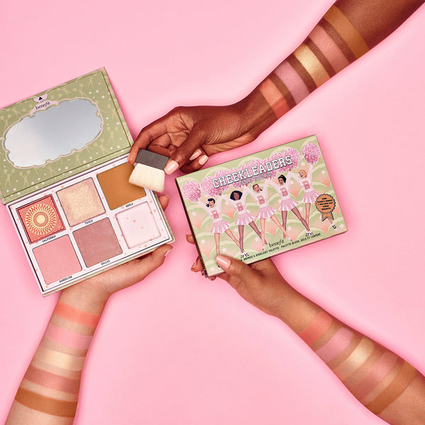 Benefit 'Cheekleaders PINK SQUAD' bronzer and blusher palette gift set