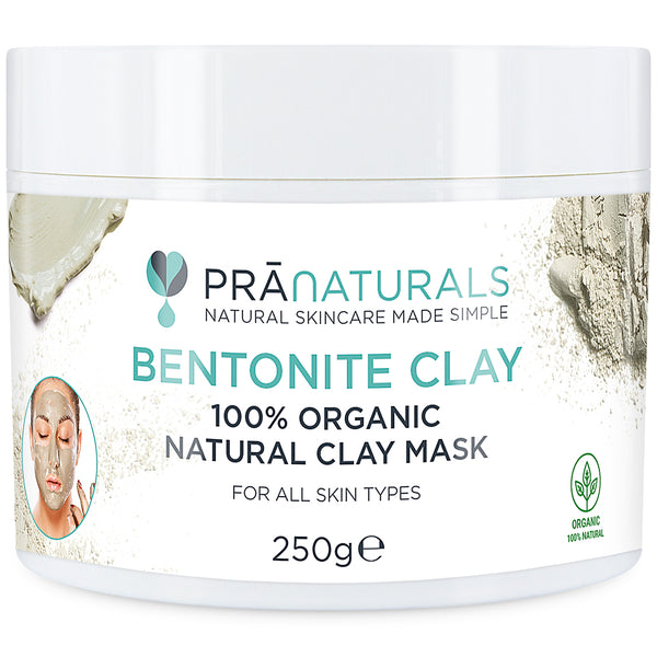 PraNaturals 100% Organic Bentonite Clay Natural Clay Mask 250g