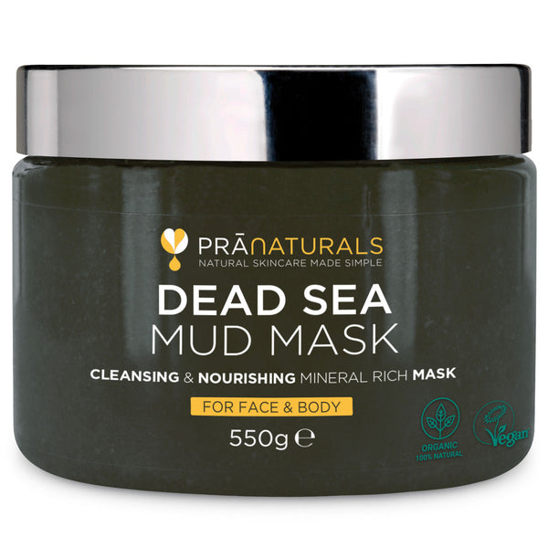 Pranaturals Organic Dead Sea Mud Mask for Face & Body 550g
