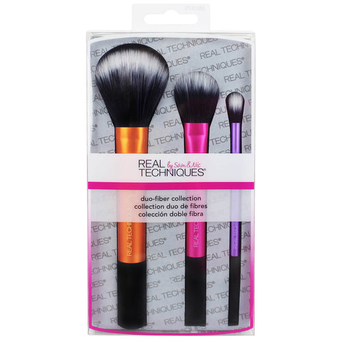 Real Techniques Duo Fibre Collection Brush Set of 3