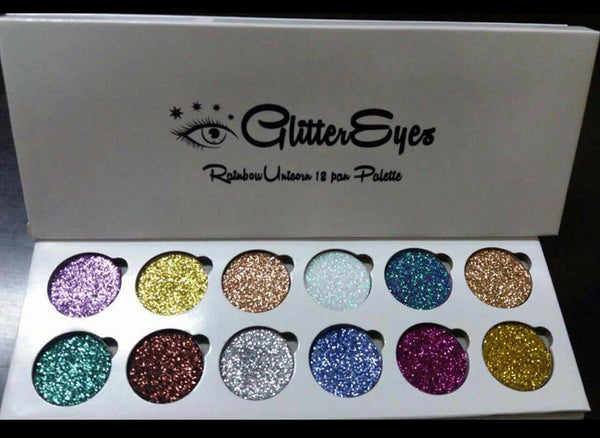 Glitter Eyes 12 pan eyeshadow palette