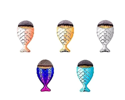 Mermaid Fish-tail Makeup Foundation Brush Applicator - Various Colours