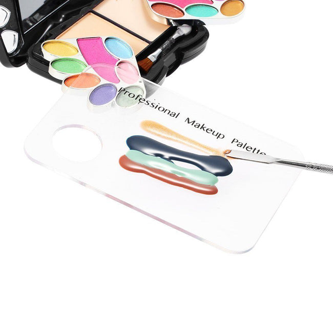 Professional Makeup Mixing Palette - Stainless Steel with Spatula