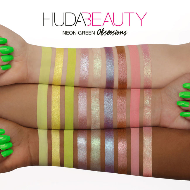 Huda Beauty Neon Green Obsessions Eyeshadow Palette
