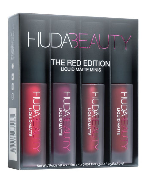 Huda Beauty The Red Edition 4 Liquid Matte Minis