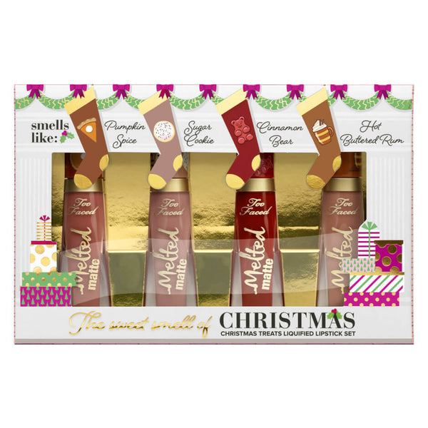Too Faced The Sweet Smell of Christmas Special Lipstick set of 4 - Limited Edition