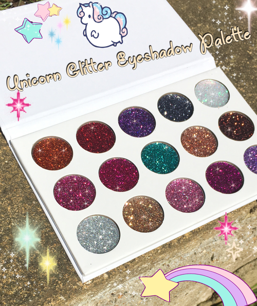 Galmierre Unicorn Glitter Eyeshadow Palette - 15 colours