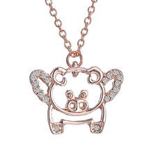 Regal Pig Neckclace - i love my pet pig