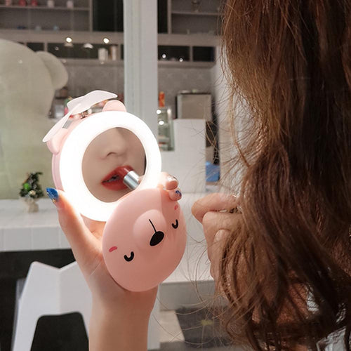 Pig Mirror with LED Fill Light - the Perfect Makeup Mirror - i love my pet pig