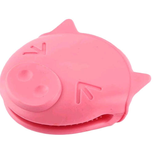 1 pcs New Cute Pig Shaped Heat Silicone Slip-resistant Gloves Cake Kitchen Oven Mitts Anti-hot Clip Tools 12.5*11*6CM - i love my pet pig