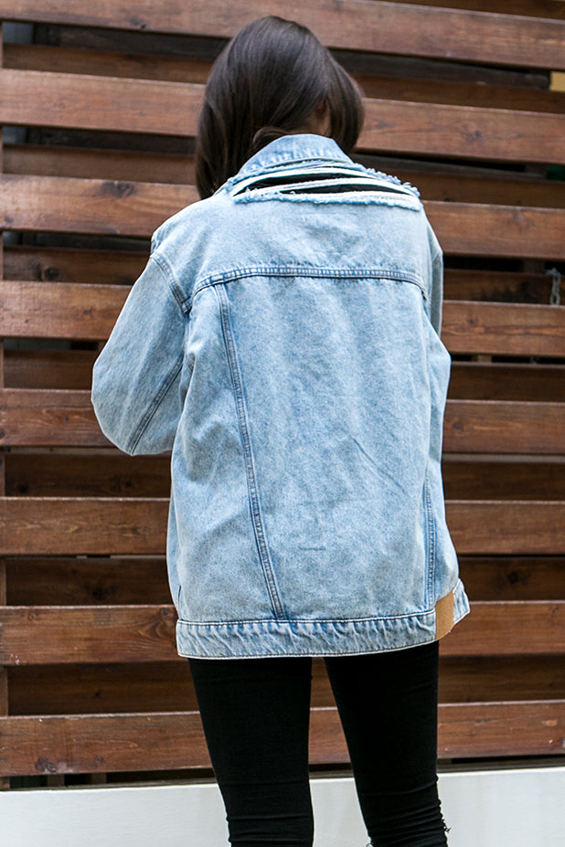 Cheap Monday Upsize Denim Jacket Lit Trash
