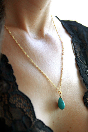 Native Riot - Dew Droplet in Turquoise - Gold