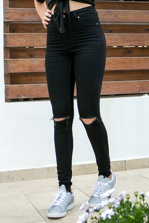Cheap Monday - High Spray Jeans Cut Black