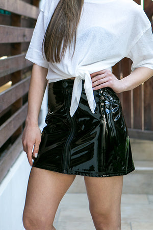 Cheap Monday - Similar Zip Short Skirt Black