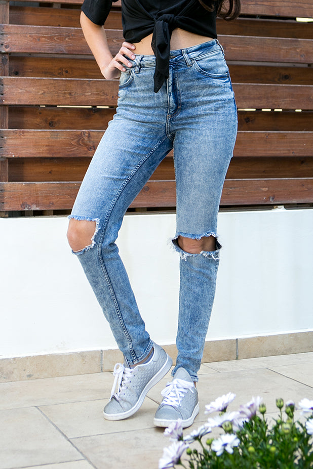 Cheap Monday - Tight Recycled Jeans Shift Blue